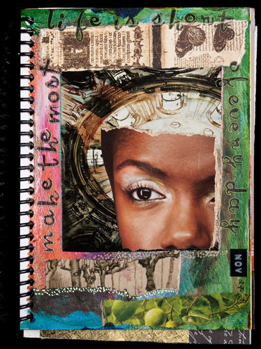 Untitled, Mixed Media Journal Page, November 27 2009