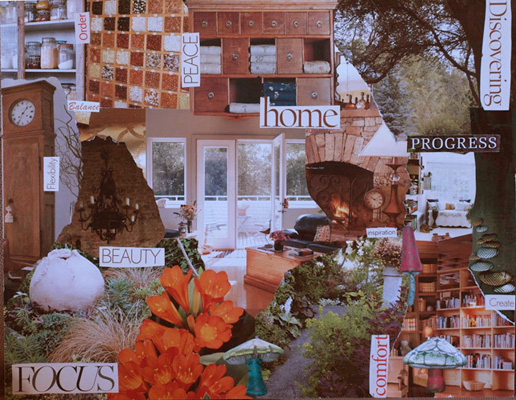 Wendy Southin, Vision Board, November 2010, 16 x 20 inches
