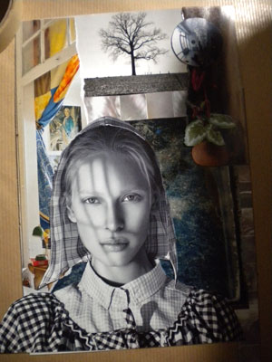 """The Tree Whisperer"" collage in progress..."