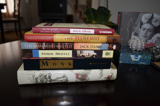 Example One Book Spine Poetry (June 2012)