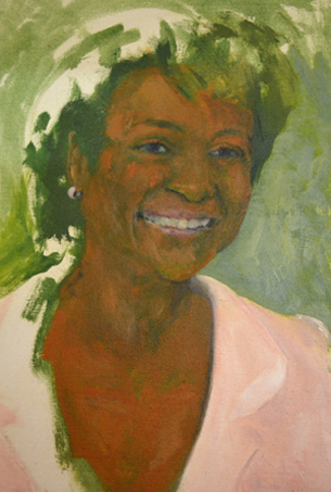 "David Kearn, ""Emergence Three"" (Michaële Jean former Governor General of Canada), Oil on Canvas"