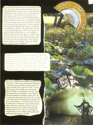 Page 2: letter to Josephine on my collage stationary, September 2004.