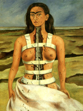 """The Broken Column"" painting by Frida Kahlo, 1944"