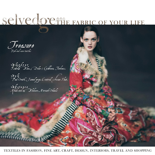 November/December 2013 issue, Selvege. A favourite fabric-related magazine of mine... see link at end of this article