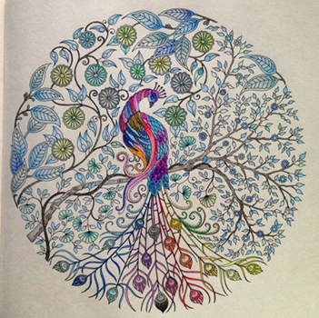 A beautiful page coloured by a fan of The Secret Garden colouring ...