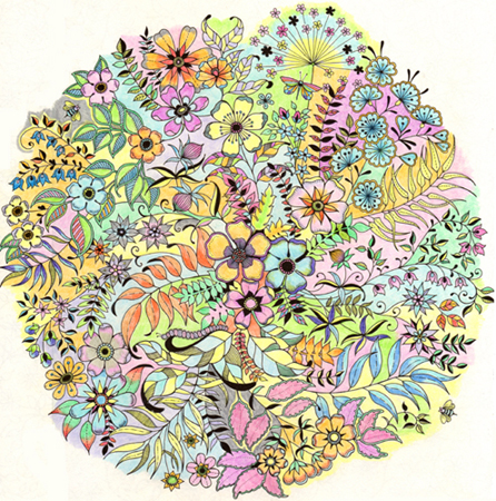 Secret Garden: An Inky Treasure Hunt and Colouring Book by Johanna ... | 450x446
