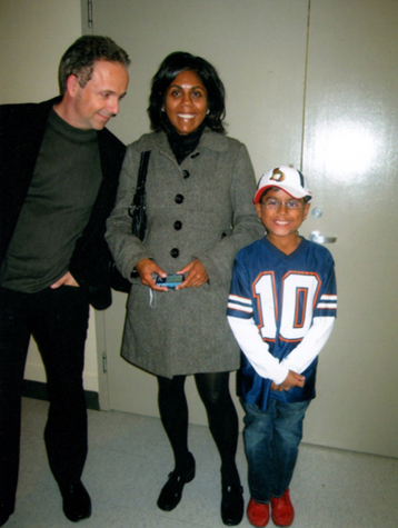 Kevin and I with my nephew Jacob, Opening night at the C4 Gallery: CCCC Project, Hintonburg Community Centre, 2009 (Photo: Lorraine Victor)