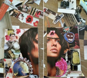 Michelle Casey, Frida Kahlo-inspired collage mail art, 2014