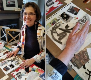 Artist Johanne Leveille incorporates her practice of Shodoo and passion for Japanese culture into the Daily Ephemera Workshop (fall, 2014)