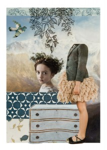 """Michelle Casey, """"Secret Garden"""", Collage/Mixed Media, 5 x 7 inches, February 2014"""