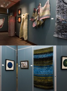 Views of Krystyna Sadej's tapestry pieces, July 2015