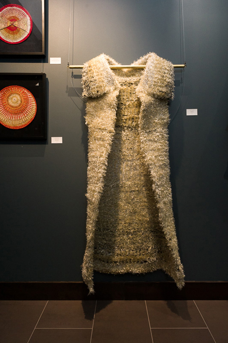 "Krystyna Sadej, ""Golden Cape"", Fibre Art, July 2015"